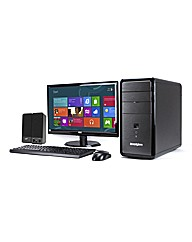 Desktop PC Package with 21.5in Monitor