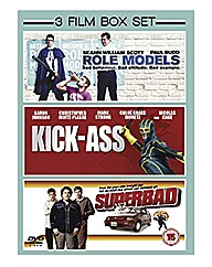 3 Films Superbad /Role Models/ Kick-Ass