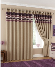 Harvard Lined Eyelet Curtains