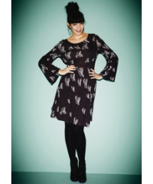 Wide Sleeve Bird Print Tunic