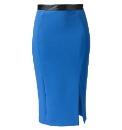 Cobalt Pencil Skirt