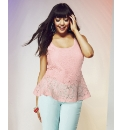 Pastel Lace Shell Top