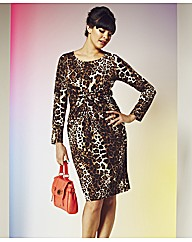 E1 Leopard Print Knot Dress