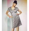 Swan Print Tea Dress