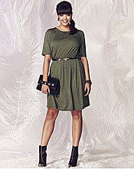 Military Style Jersey Dress