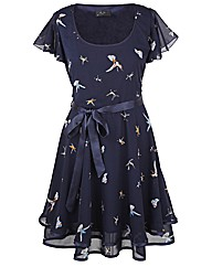 AX Paris Bird Print Frill Dress