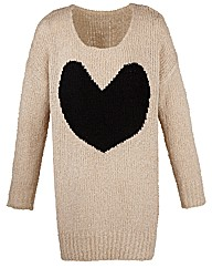 AX Paris Heart Print Jumper