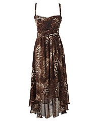 AX Paris Animal Print Dip Back Dress