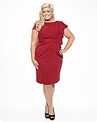 Gemma Collins Essex Ruffle Dress