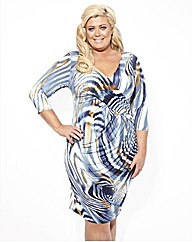 Gemma Collins Niagra Swirl Print Dress