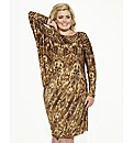 Gemma Collins Mali Batwing Leopard Dress