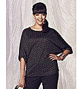 Metallic Yarn Batwing Top