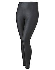 Snake Skin Effect Wetlook Leggings