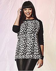 Animal Print Jumper Top