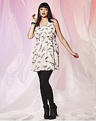 AX Paris Feather Print Stud Dress