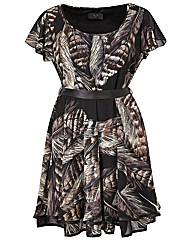 AX Paris Feather Print Dress