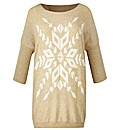 AX Paris Slouch Snowflake Jumper