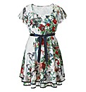 AX Paris Butterfly Print Frill Dress