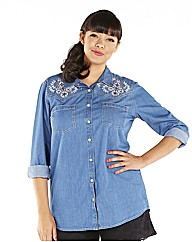 Embroided Denim Shirt
