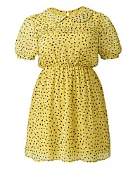 Cutie Spot Print Retro Dress