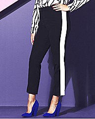 Black And White Panel Trousers