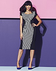 Stripe Panel Bodycon Dress