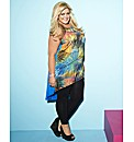 Gemma Collins High Low Feather Tunic