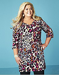 Gemma Collins Animal Printed Tunic