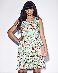 AX Paris Turquoise Floral Dress