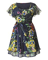 AX Paris Navy Floral Print Dress