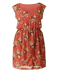 AX Paris Wrap Coral Print Dress