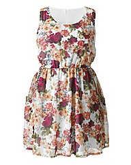 AX Paris Pink Floral Stud Dress