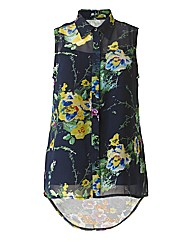 AX Paris Navy Floral Blouse