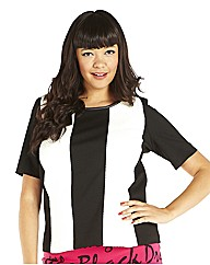 Black And White Panelled Box T Shirt