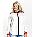 Colour Block Contrast Shirt