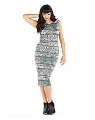 Tribal Printed Midi Dress