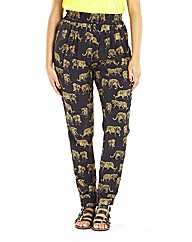 Tiger Printed Pull On Pants