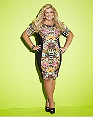 Gemma Collins Printed Panel Dress