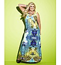 Gemma Collins Blue Printed Maxi Dress