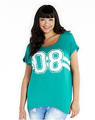 Number Printed T Shirt