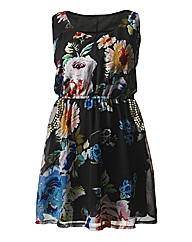 AX Paris Floral Stud Pocket Dress