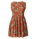 AX Paris Coral Print Skater Dress