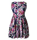 AX Paris Navy Floral Skater Dress