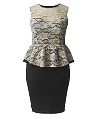 AX Paris Lace Peplum Dress
