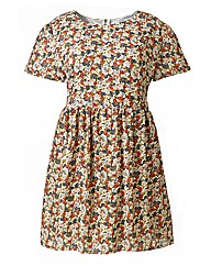 Cutie Short Sleeve Floral Print Dress