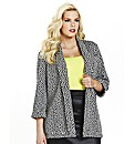 Animal Jacquard Boyfriend Blazer