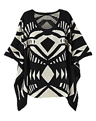 AX Paris Aztec Design Poncho