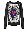 AX Paris Rose Design Jumper