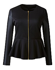 AX Paris Peplum PU Sleeve Jacket