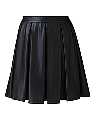AX Paris PU Skater Skirt